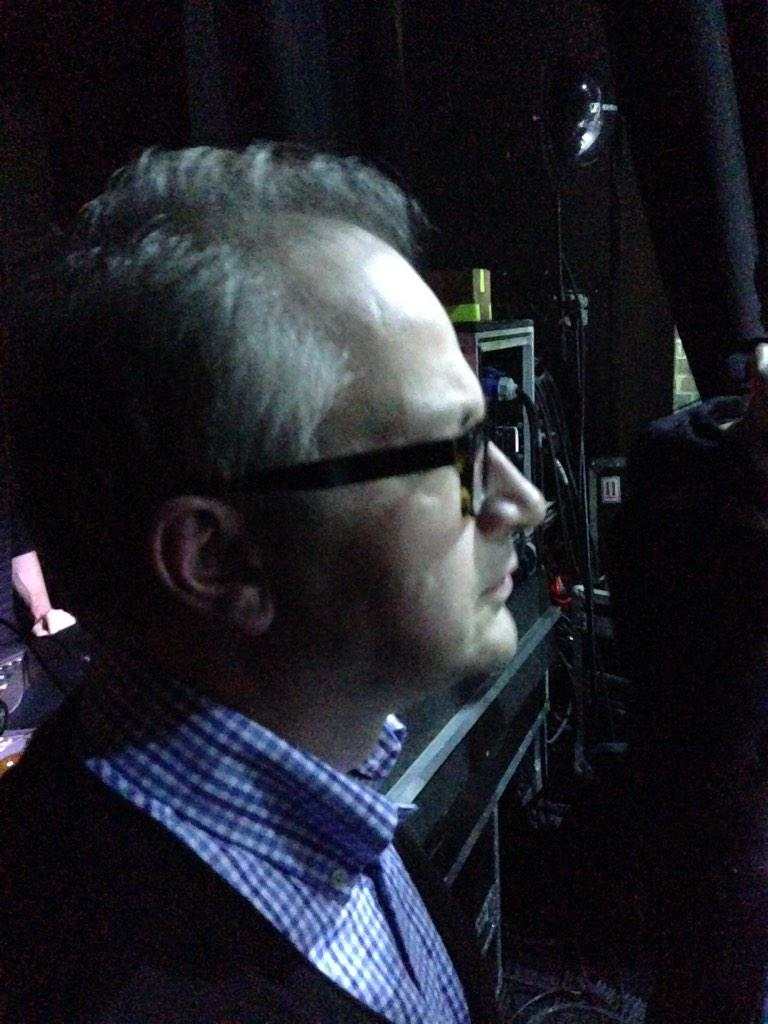 The Cure! @robinince looks on pondering how to top this http://t.co/O35BIlKsmC