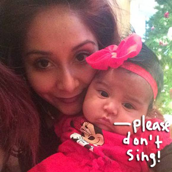 #Snooki adorably scares her baby girl by singing #LetItGo from #Frozen! WATCH! --> http://t.co/DSMLa3Da1C http://t.co/yYkurcwrE1