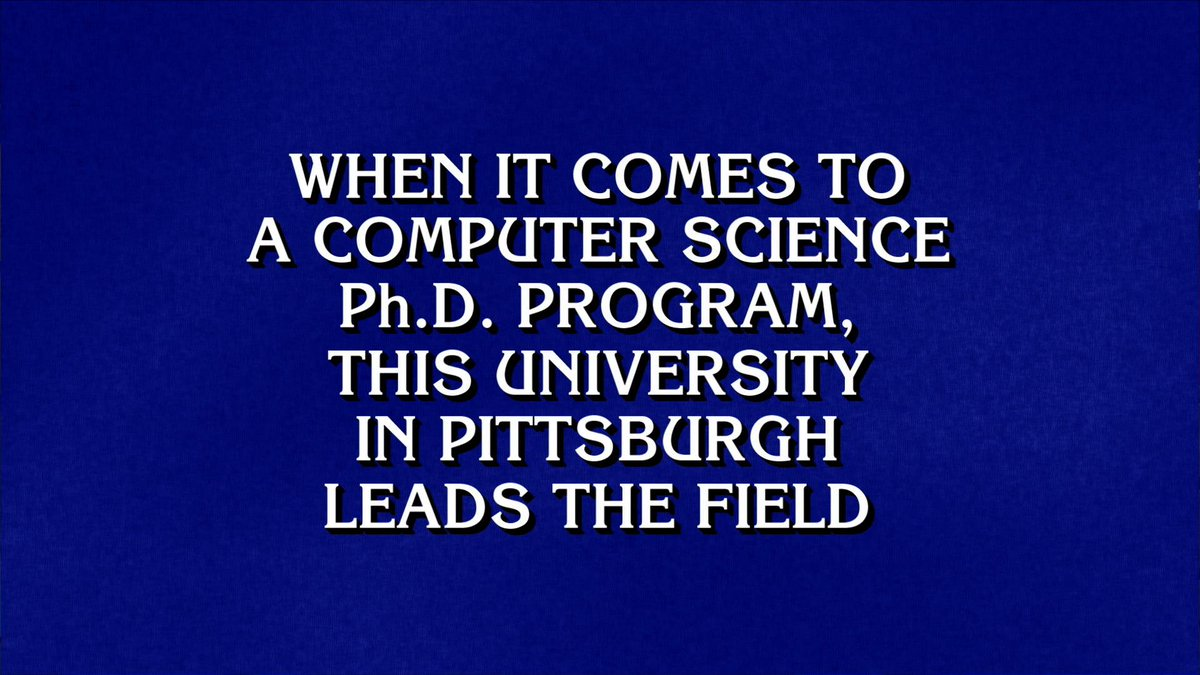 An easy $1000 on @Jeopardy: What is Carnegie Mellon? http://t.co/PkX2gneIpD http://t.co/79BwhabLuU
