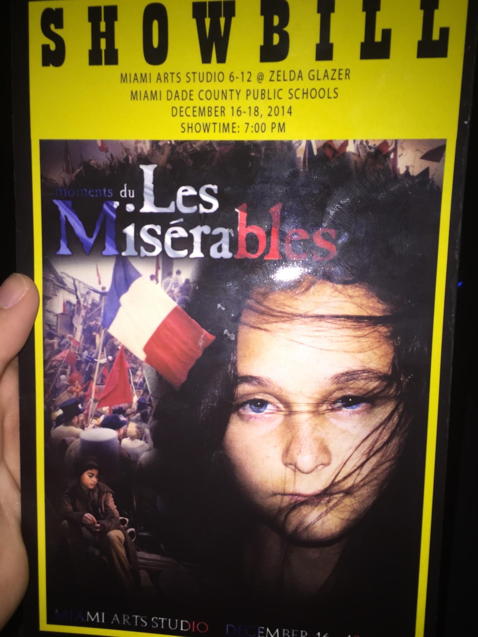 Moments Du Les Miserables performed by Miami Arts Studio at Zelda Glazer should be on Broadway wooooooow http://t.co/iqgIUfysr3
