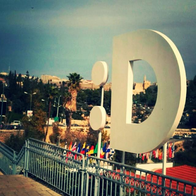 The @JJJComedy logo has officially invaded Jerusalem - comedy & social change coming Sun & Mon! #comedyforachange http://t.co/m51XeNR54g