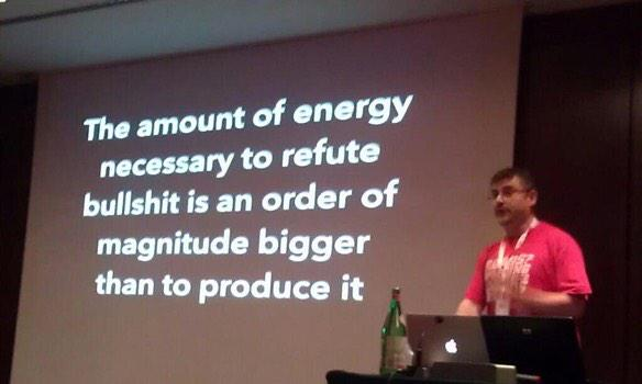 "This slide should be the fourth law of thermodynamics"" —@pkedrosky http://t.co/UaOLMW8g9Q (this is true, haha)"
