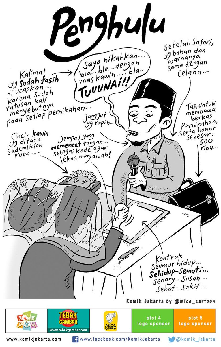 Komik Jakarta On Twitter Orang Penting Penghulu By Mice Cartoon