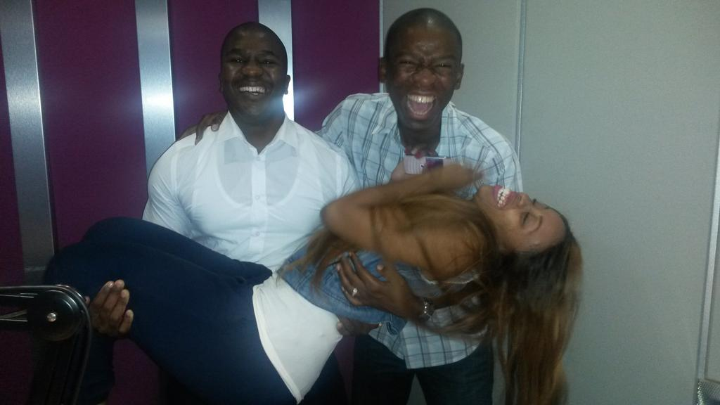 Your breakfast team from Monday @PhumlaniDube @JacintaNgobese @VumaFM http://t.co/fFv75n4hzz