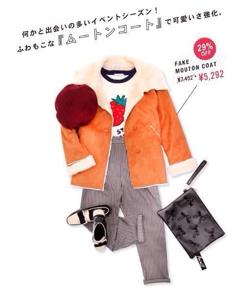 イチゴが可愛いニット 3132yen🍓が登場✨冬アウター×春ニットでちょっぴり季節先どり💕このコーデを買う→ #WEGO