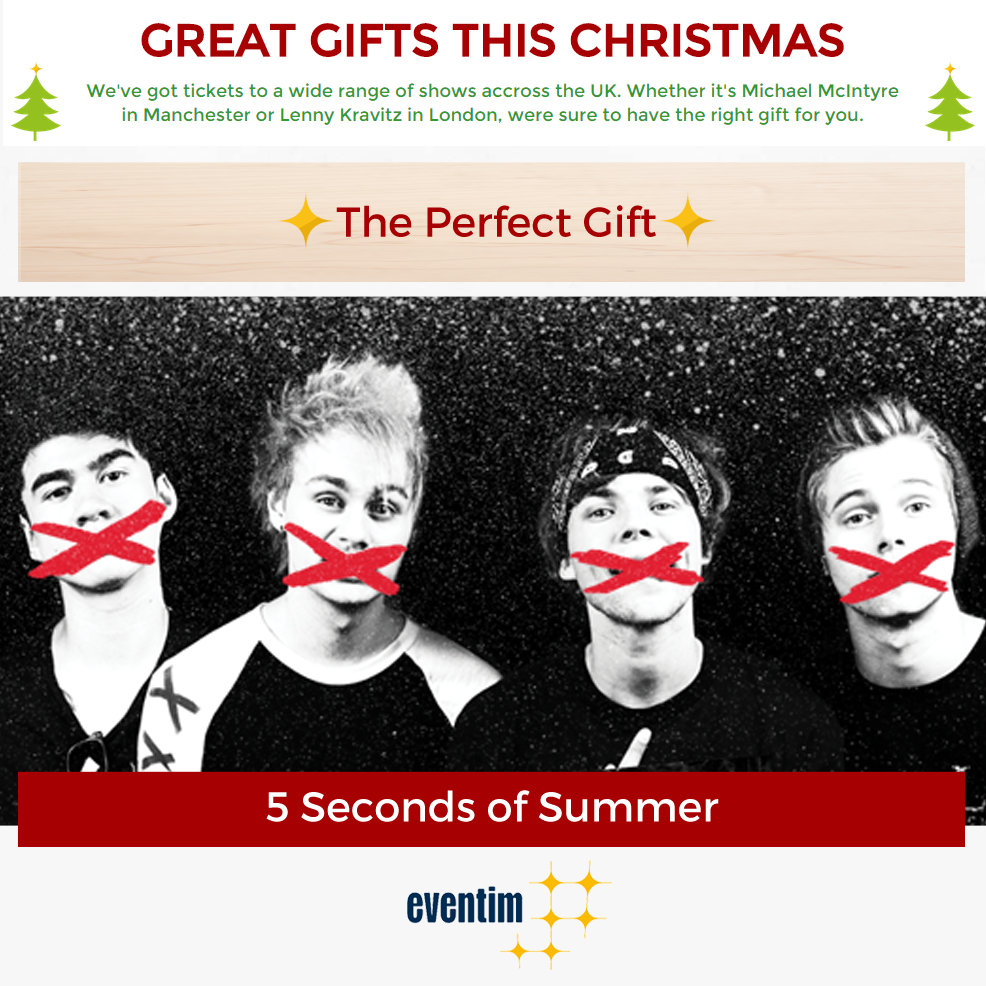 Eventim Uk On Twitter The Perfect Gift 5 Seconds Of Summer Tickets T Co 4okuwlxqisos T Co Uldcngow8o