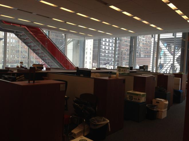 A shot of the @nytimes media desk today following six departures on our desk this week. http://t.co/6FD3g3yTrs