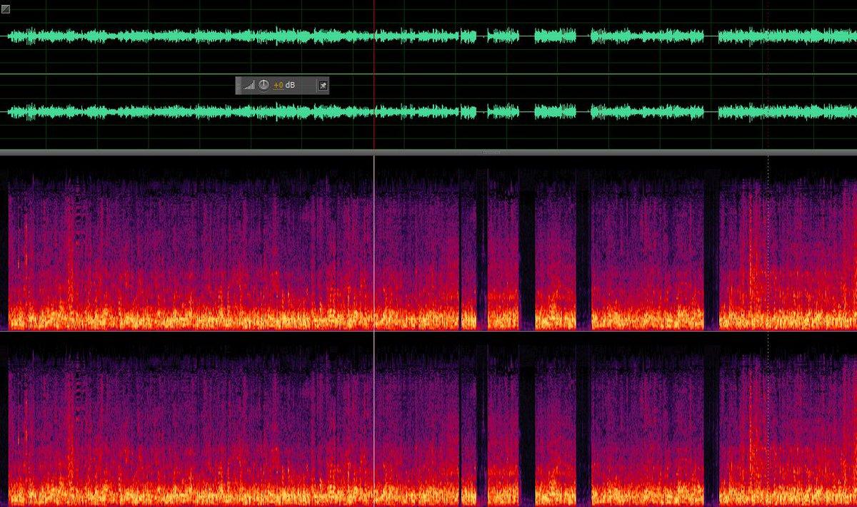 κατεβασα το ηχητικό του Παραπολιτικά για να το καθαρίσω απο το noise και τι να δω? (Mαυρα κενά = προχειρο muting) http://t.co/dJT2IeBGix