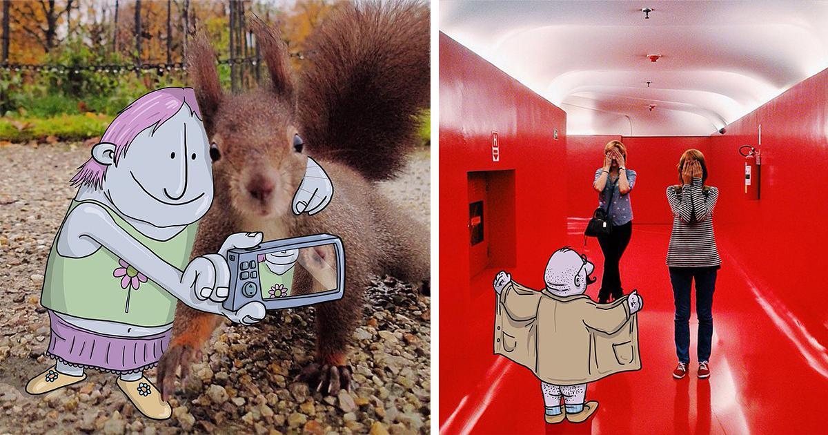 Illustrator Adds Funny Cartoons To Strangers' Instagram Photos: http://t.co/EnTkgqgEko …  #art http://t.co/G5lbqLYtYj v @boredpanda