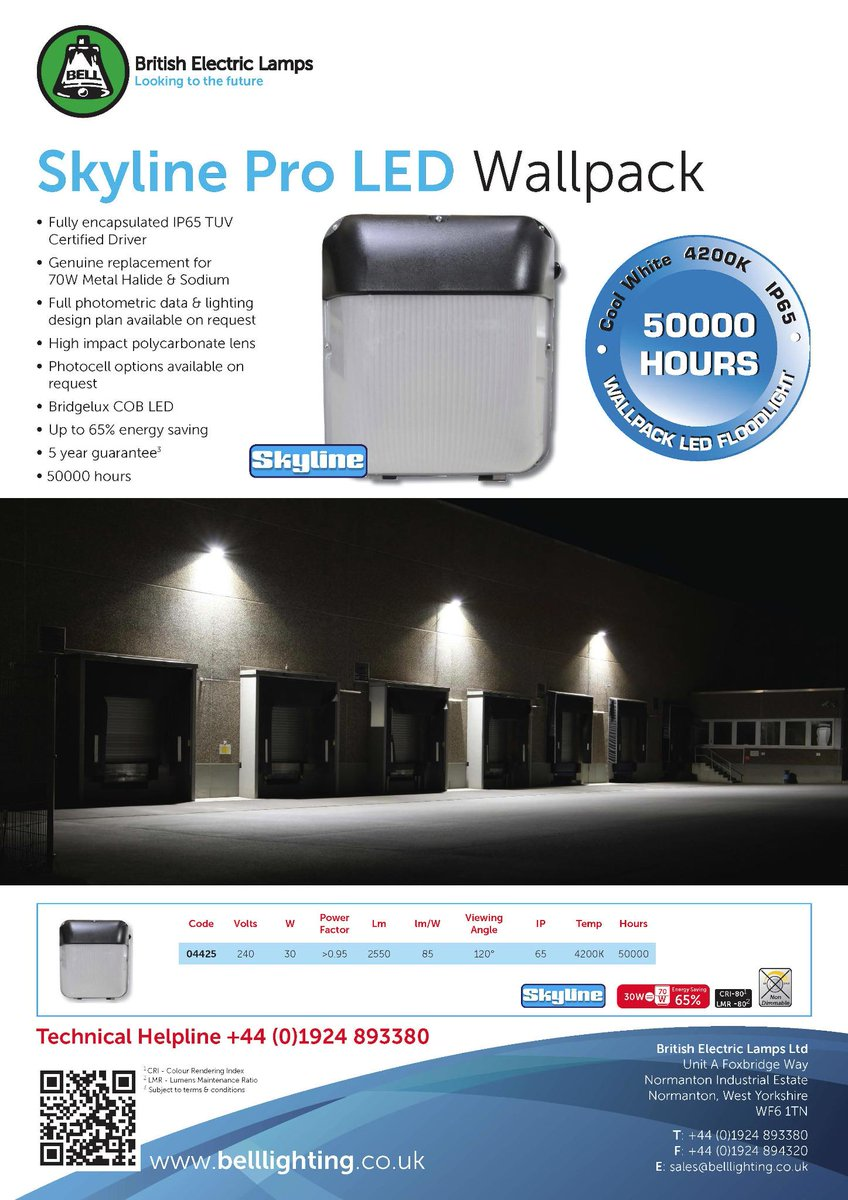 BELL Lighting on Twitter \ Introducing our NEW Skyline Pro LED Wallpack! Please contact our Sales Office for further information! & BELL Lighting on Twitter: \