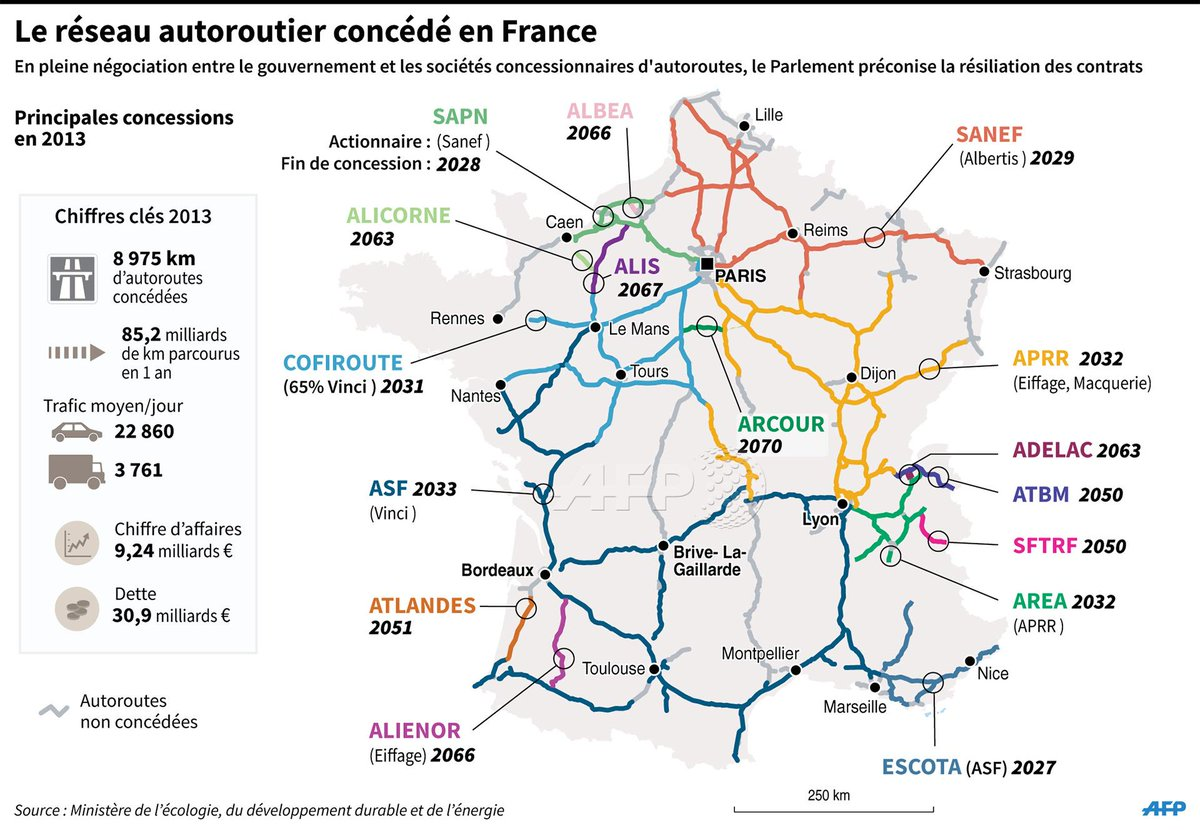 agence france presse on twitter infographie carte de france des autoroutes conc d s afp. Black Bedroom Furniture Sets. Home Design Ideas