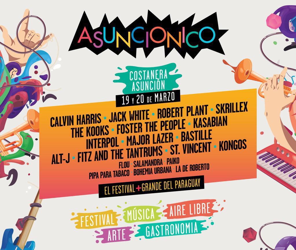 Desde este lunes inicia la venta de lo que será el festival más grande del Paraguay!!! #ASUNCIONICO  @asuncionicopy http://t.co/f8KCqQvSBh