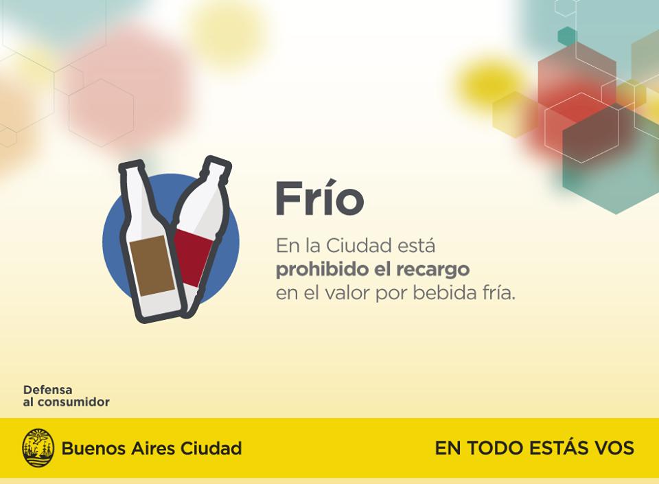 Recordá que el cobro del frío de la bebida esta prohibido en todos los comercios de la Ciudad. Vía @BAConsumidor http://t.co/gcYghvJ3SA