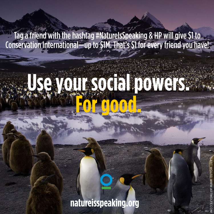 Got a friend (or 50)? That's all you need to help save the earth! http://t.co/IPc6IjPrkq #NatureIsSpeaking http://t.co/nIpGHPwuNU