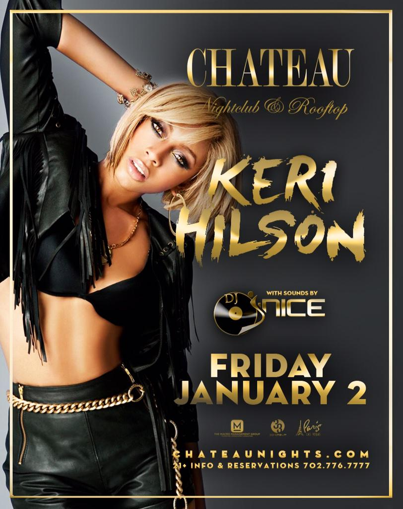 Join me in #Vegas Fri Jan 2  @Chateaulv Nightclub inside @parisvegas w/ @KeriHilson as we #turnup for the #newyear http://t.co/Tjh4ae7O9m