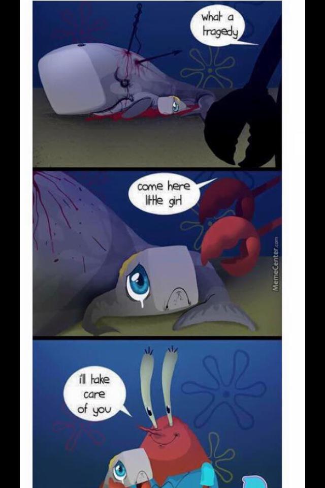 mr krabs finds pearl