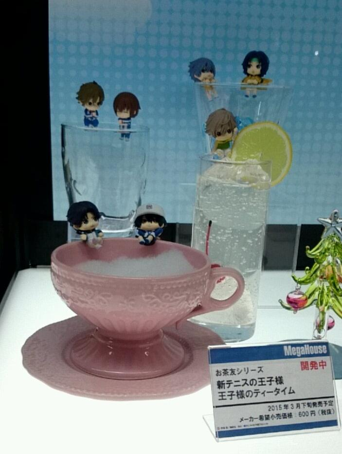 【JF15】メガハウスブース:お茶友シリーズ「新テニスの王子様 王子様のティータイム」が展示されています。 ※隣にある黒バスのお茶友は監修中のためSNS掲載不可となっています。ご注意ください。