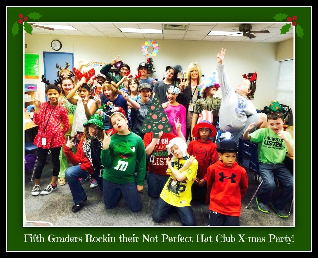 #inzpired Celebrate @ShellyDStout 5th grade rockin #NotPerfect Hat Club X-mas Party & be fan: https://t.co/eadJZFtTLI http://t.co/1bZet3c5t2