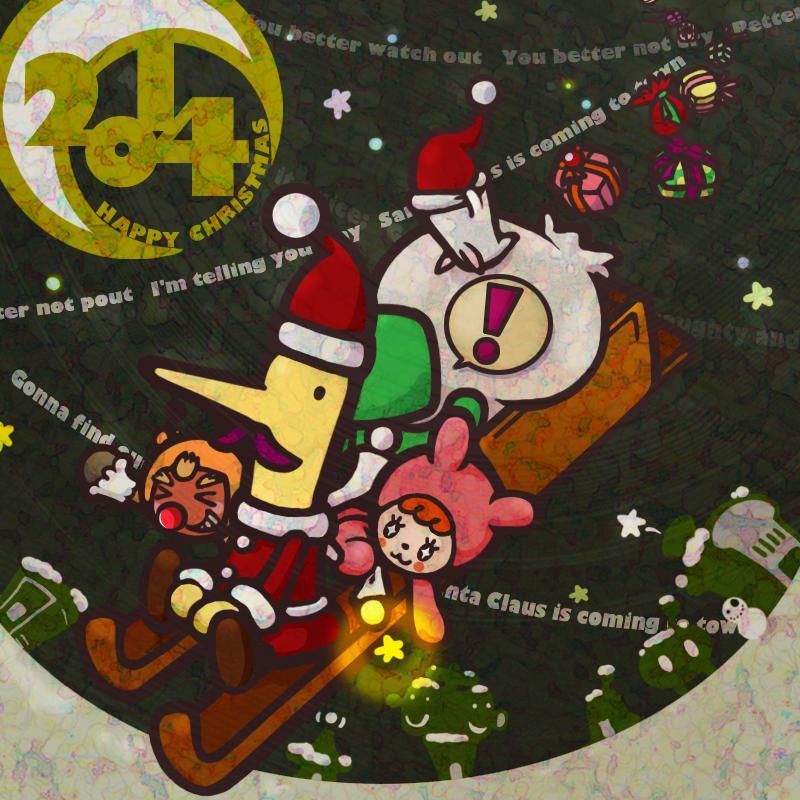 【電波人間のクリスマス2014】 すずきかおりさんのイラスト