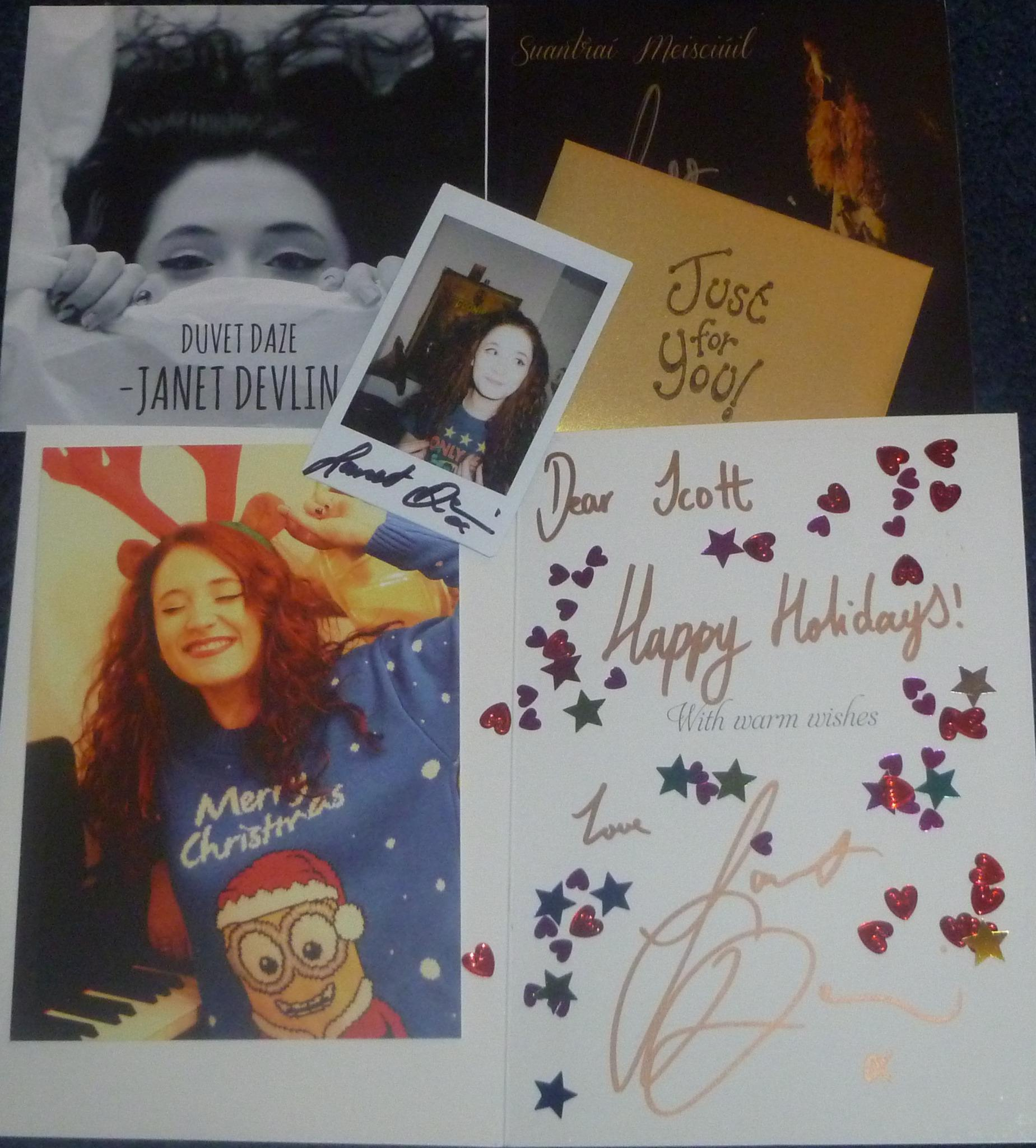 RT @ScottieReid: Possibly the best christmas card parcel i have ever received, thank you very much @JanetJealousy http://t.co/WIn6A7S3nm