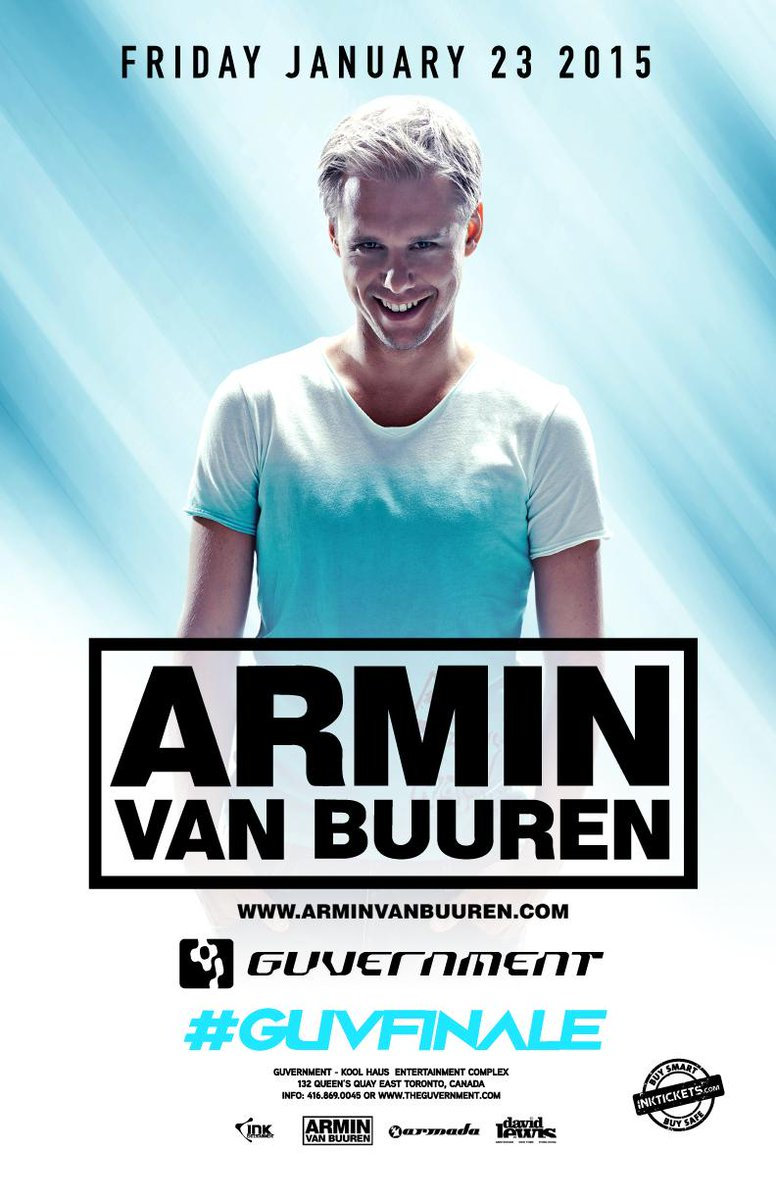 Friday January 23rd, @ArminvanBuuren will perform inside The Guvernment as part of the #GuvFinale final weekend! http://t.co/Vctn0ygpDd