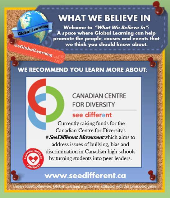 A Great #Canadian Cause to Know: http://t.co/9yCvMjEuLp / @CDN4diversity #Diversity #Bullying #SeeDifferent http://t.co/xg3Fszkl2j