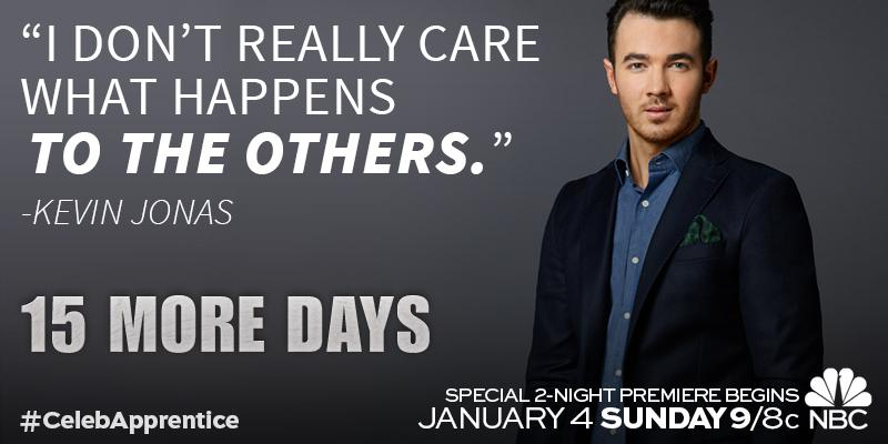 It's about to get real with @kevinjonas. #CelebApprentice http://t.co/AjMYn5Emvr