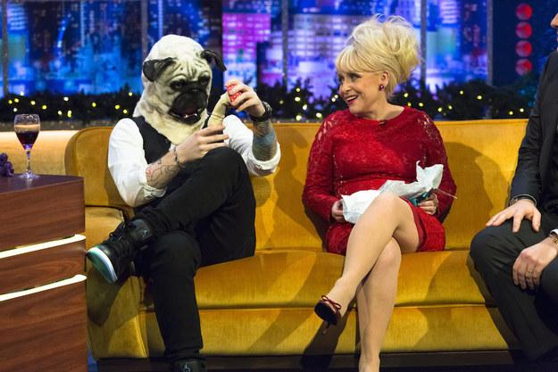 Love @edsheeran just sitting as a pug on @itv #Jrshow @JonathanRossITV http://t.co/BCiUHMhjHt