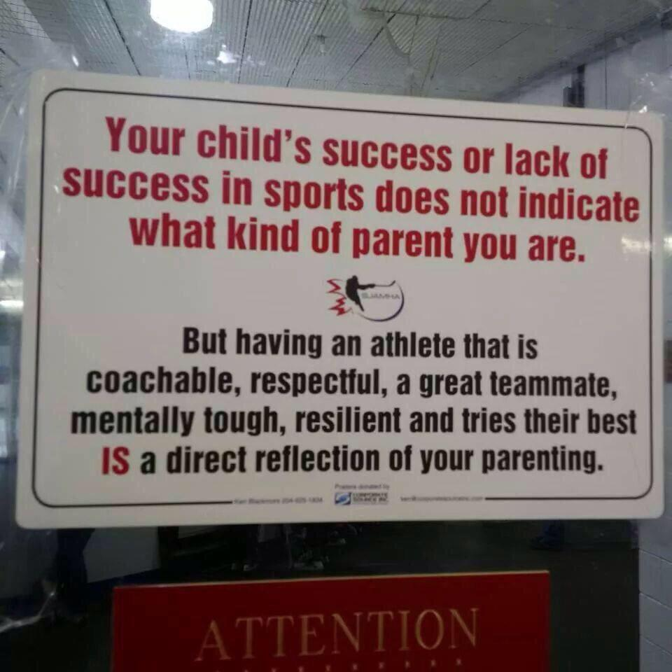 This sign should be plastered at the entrance of every sports field in the world. A real head scratcher for parents!! http://t.co/I41HsT6vKd