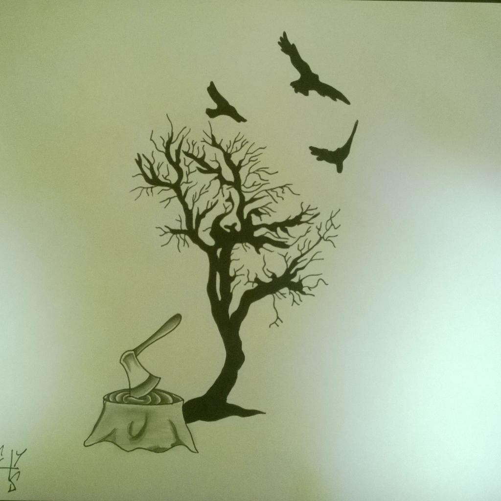 The Tattooexperience On Twitter Arbre Hache Oiseau Dessin Tatouage Tattoo Ink Art Paris Http T Co Ezxsdidxw2