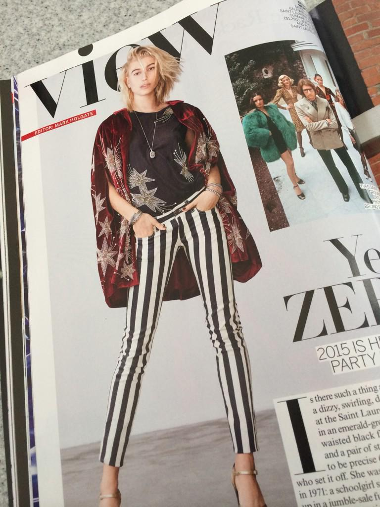 look who's in vogue 💖💖💖 @haileybaldwin http://t.co/or488QiU49