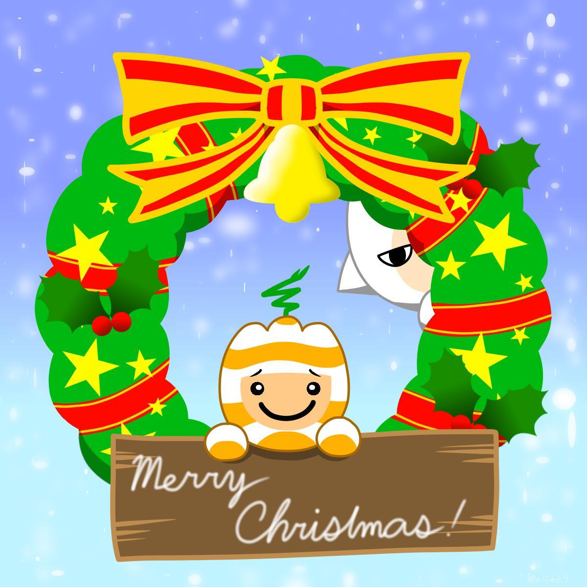【電波人間のクリスマス2014】朝のにわとりさんのイラスト