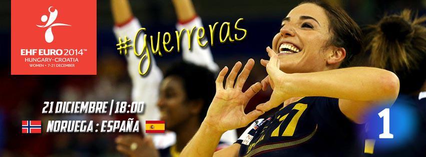 A partir de las 18:00 Noruega - España en La1 a por el Europeo de Balonmano Femenino #Guerreras http://t.co/qth9IzKCEU