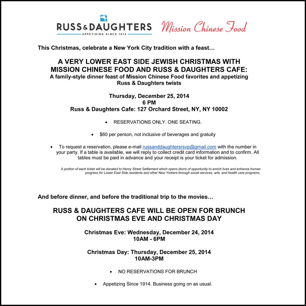 Russ & Daughters on Twitter: \