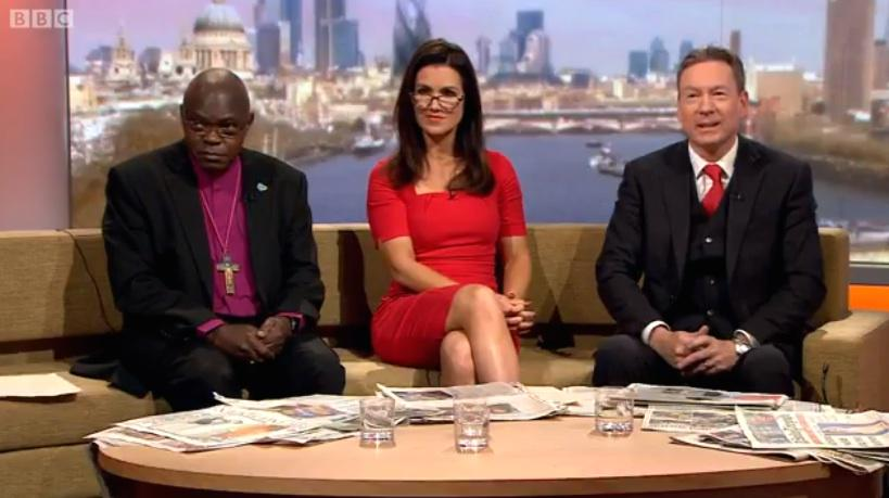 RT @MirrorTV: Look who returned to BBC this morning! @susannareid100 appeared on The Andrew Marr Show. http://t.co/Onf7SuHdCG http://t.co/L…