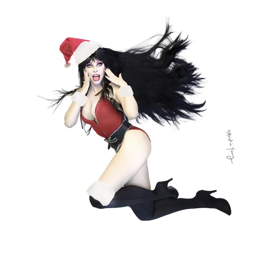 Hope you've been naughty!  @TheRealElvira pin-up by Austin Young http://t.co/R8fblStcch