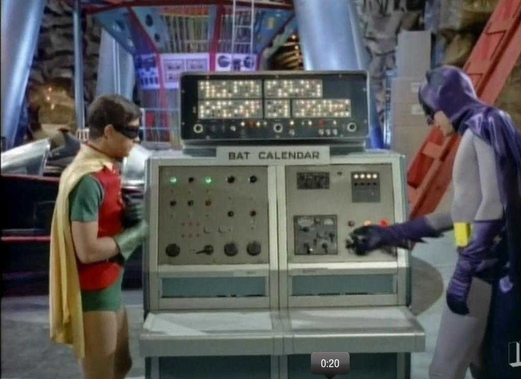 Batman & Robin managed their calendar online before most of us, but at the time, it required an entire Batcomputer. http://t.co/zsFQ1YdfTR