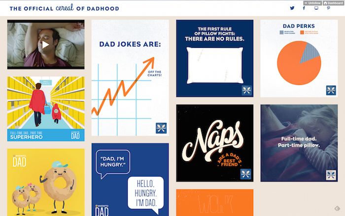 .@cheerios got its tumblr on, tapping into the Dad Jokes meme w/ #HOWTODAD http://t.co/O8rpv8xdIt http://t.co/DU0sqVmJsY