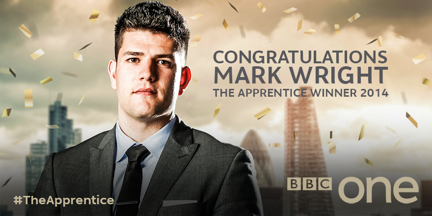 """RT @Peekaboo65_: """"@BBCOne: Mark has climbed his way to the top on #TheApprentice. @Lord_Sugar has his new business partner… http://t.co/F8C…"""