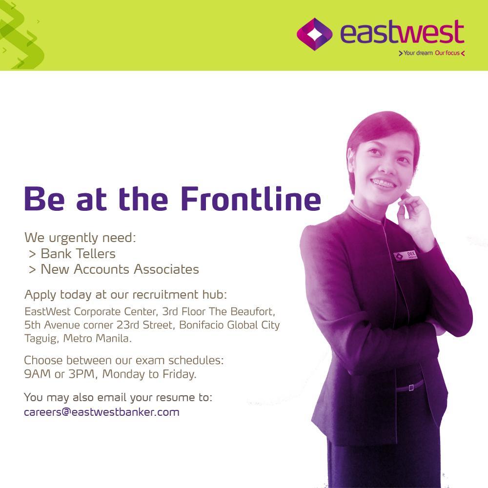 eastwest bank careers