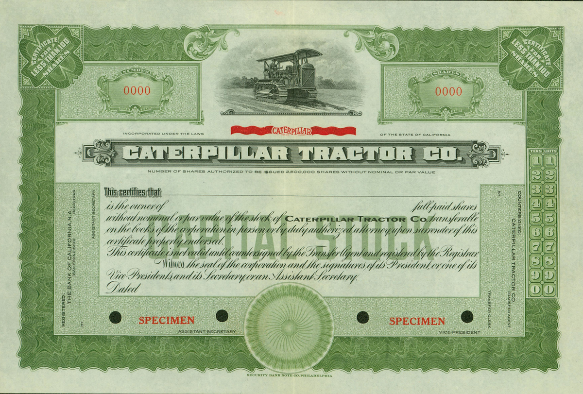 Nyse On Twitter What Did A Stock Certificate Look Like 85 Years