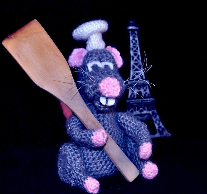 Ratatouille the rat toy | Крыса, Вязаные игрушки, Амигуруми | 742x792