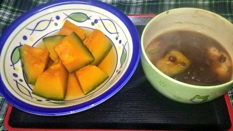 ◆  冬  至  ◆  *南瓜の煮物&南瓜ぜんざい♪ http://t.co/rh58EDLUoL