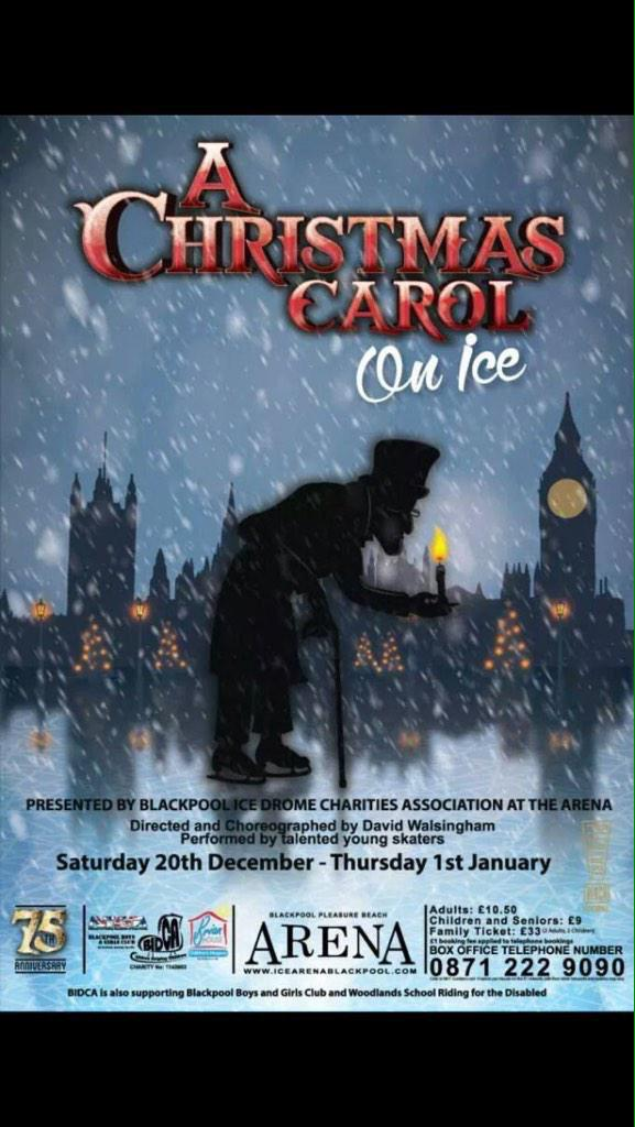RT @crabbiemay: 25% off tonight and tomorrow performance of A Christmas Carol On Ice when booked online! Supporting local charities!! http:…