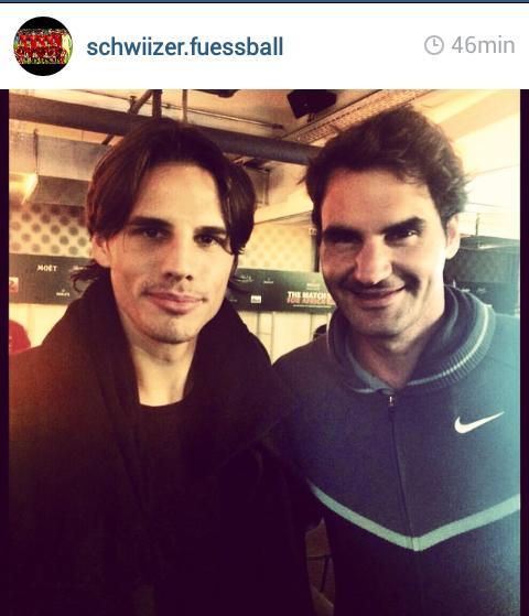 Roger Federer Link On Twitter Roger And Yann Sommer Yesterday Night In Zurich Http T Co Xnppkc6xg0