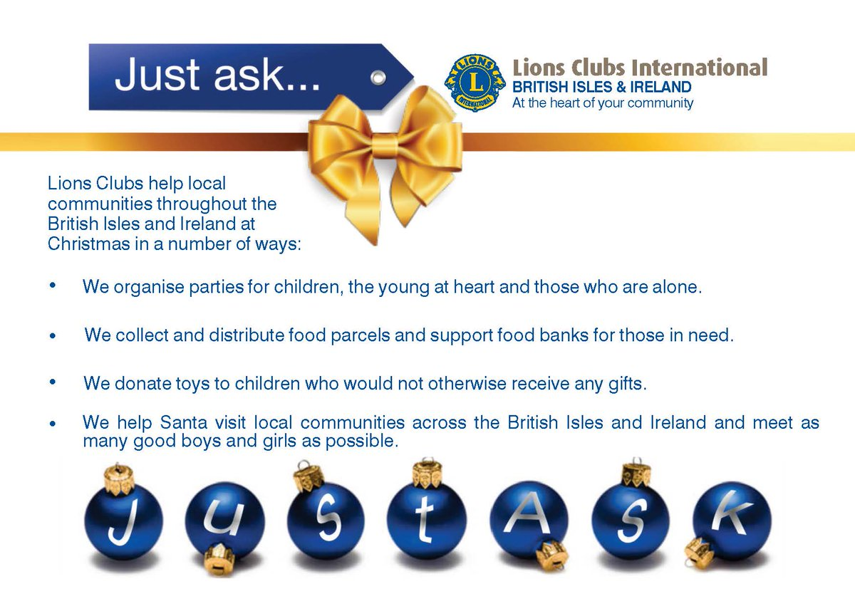 "Lions Clubs UK & Ire on Twitter: ""Just ask how your local Lions Club makes every penny count at Christmas & throughout the year, contact 0845 833 9502 ..."