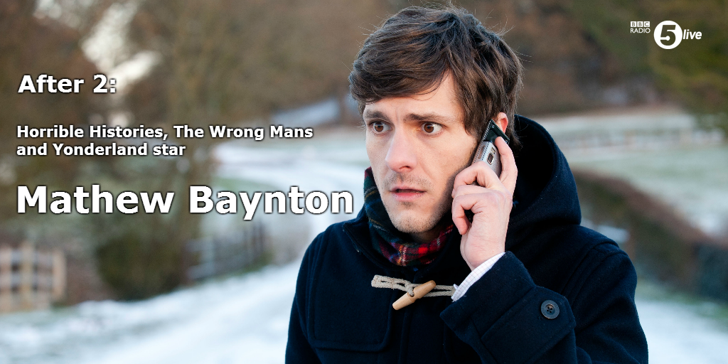RT @bbc5live: After 2pm: The Wrong Mans star @realmatbaynton. Tweet us your questions http://t.co/UQMSd6bljf http://t.co/yym1kQAaZP
