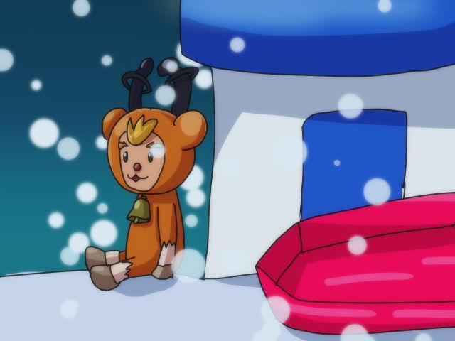 【電波人間のクリスマス2014】ルシアンさんのイラスト