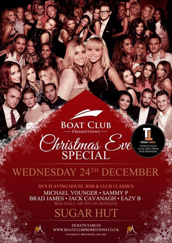Get you Christmas Eve @BoatClubEvents Tickets from us by calling 01277 200885 Only £10!! http://t.co/UmMfBShNq1