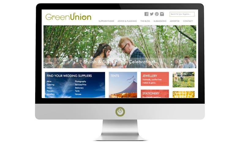 Green Union Weddings website redesigned, rebuilt and relaunched in 2014 by Alacrify